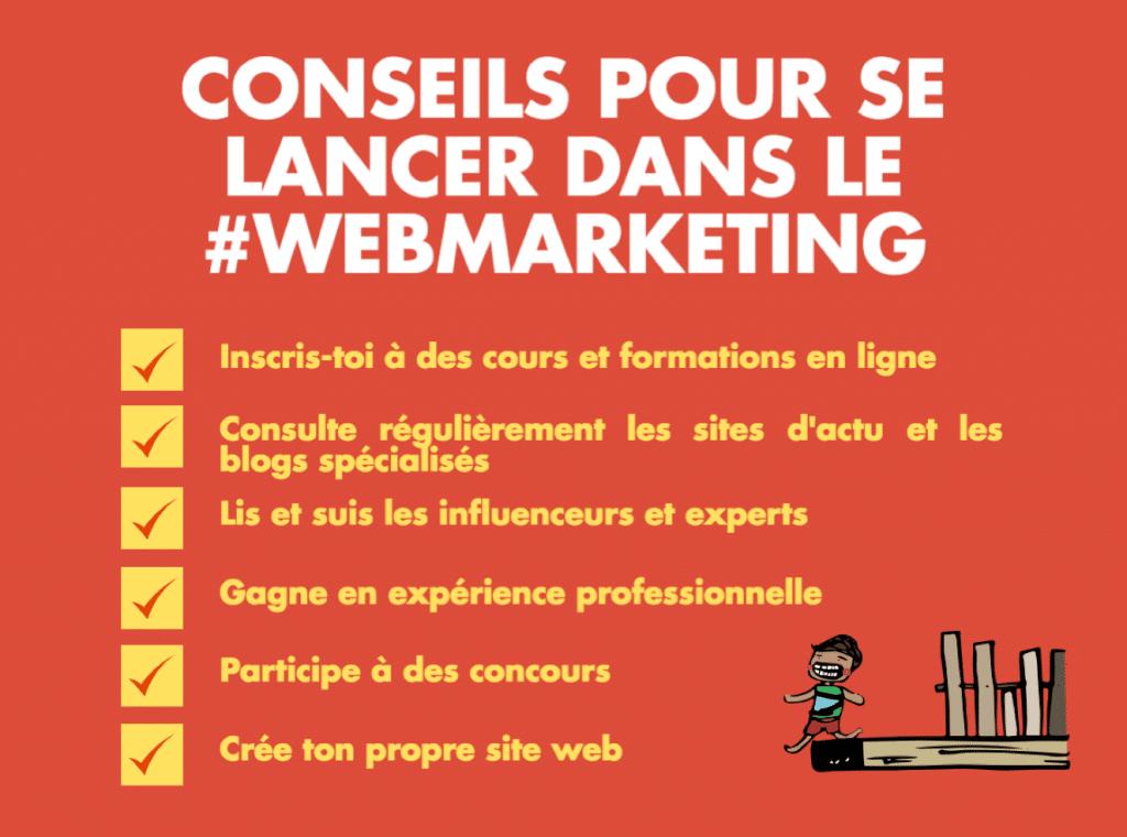 Conseils pour se lancer dans le webmarketing