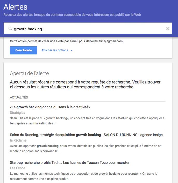 Comment paramétrer une Google Alerte ?