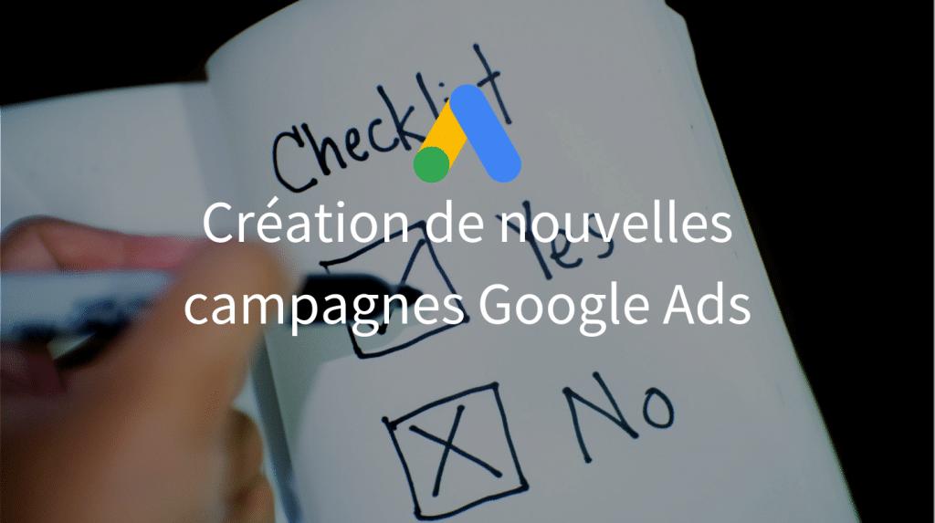 Checklist Campagnes SEM