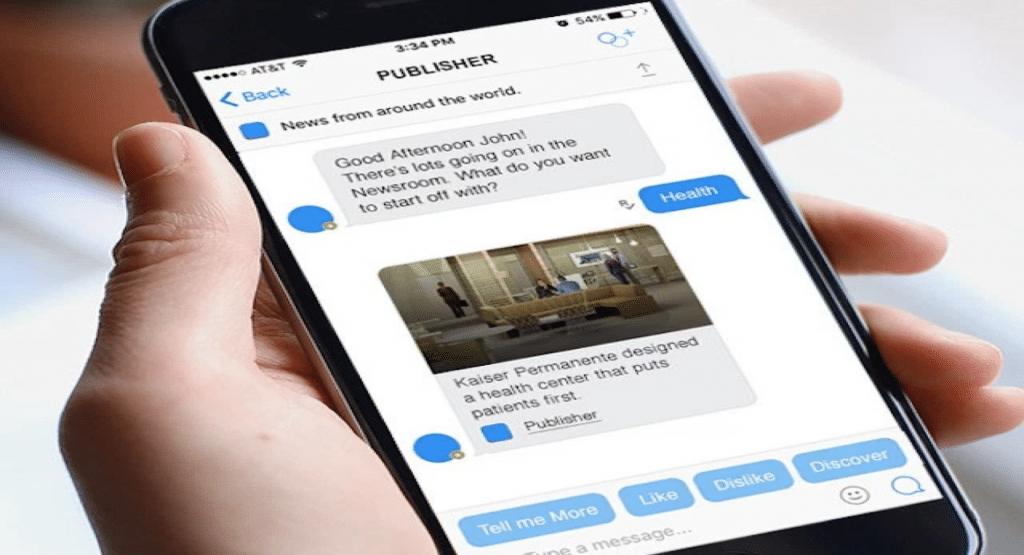 Utilisation d'un chatbot sur Facebook Messenger