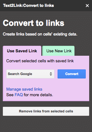 Transforme le texte de tes cellules grâce à l'add-on Google Spreadsheet Text2Link.