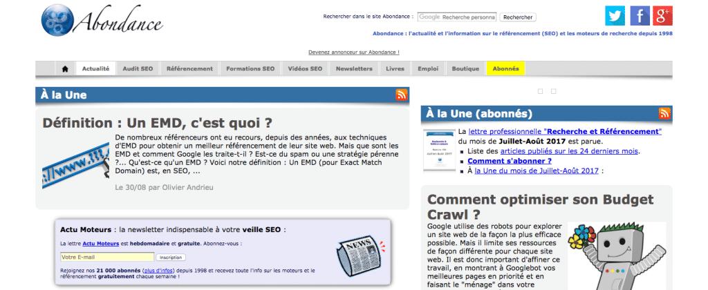 Blog webmarketing spécialisé dans le SEO