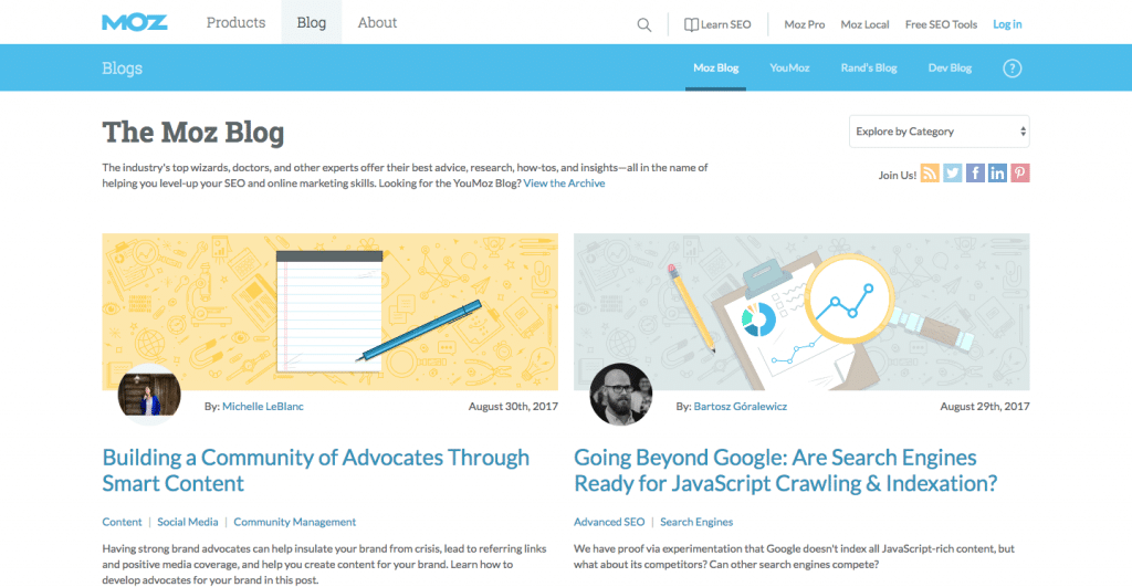 Le blog Moz, une référence dans le webmarketing