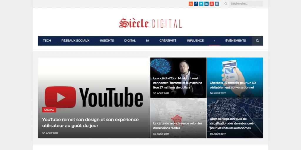 Siècle Digital, un média d'information reconnu sur le secteur du digital