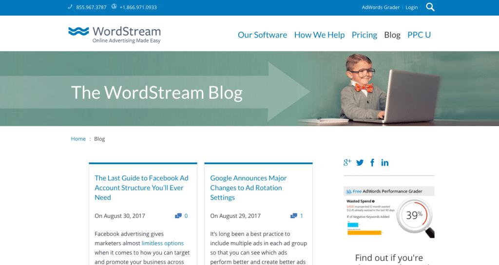 Le blog webmarketing de Wordstream