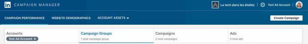 LinkedIn Campaign Manager La tech dans les etoiles