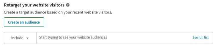 Faire du retargeting sur LinkedIn Ads