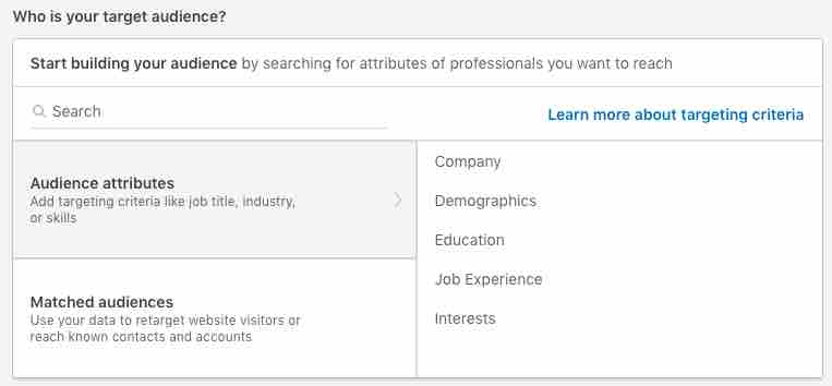 audience linkedin ads