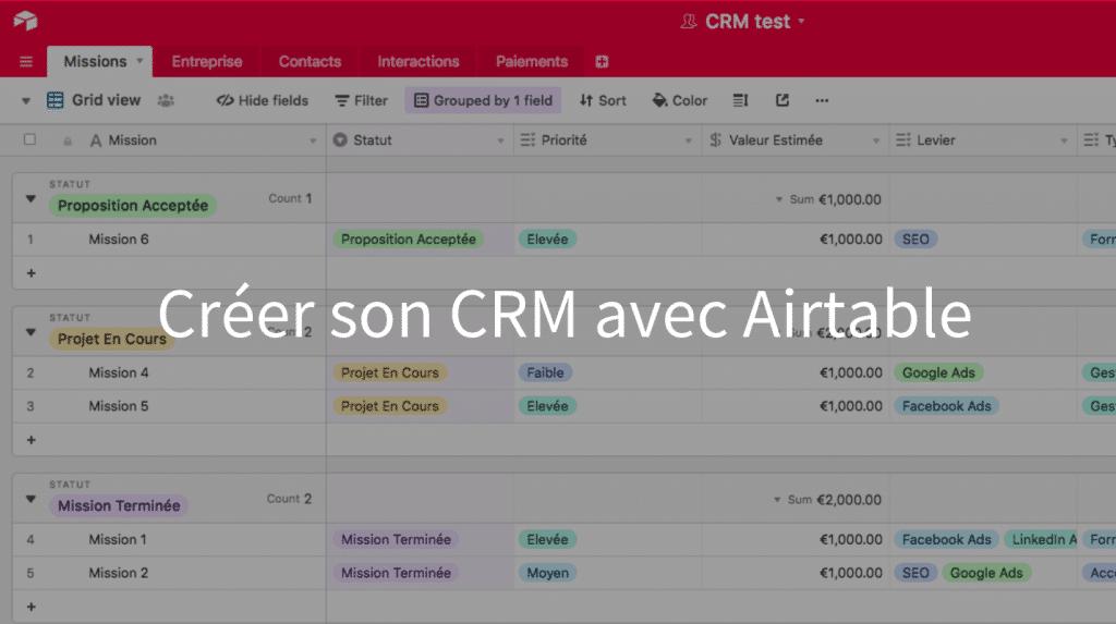 CRM Airtable ou comment créer son CRM avec Airtable