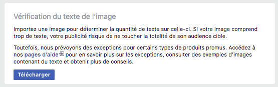verification texte image facebook