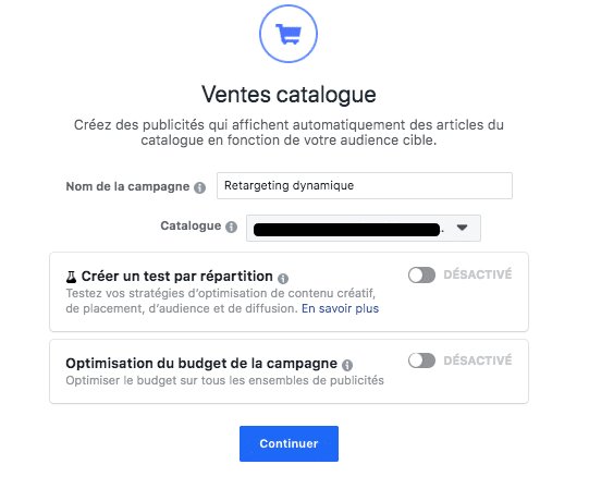 catalogue facebook ads ventes catalogue