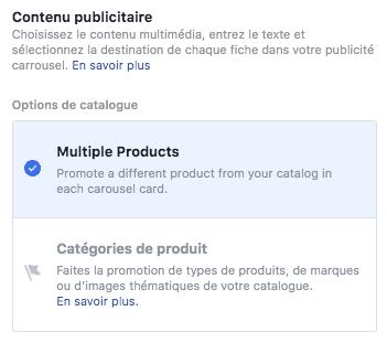 contenu publicitaire facebook ads