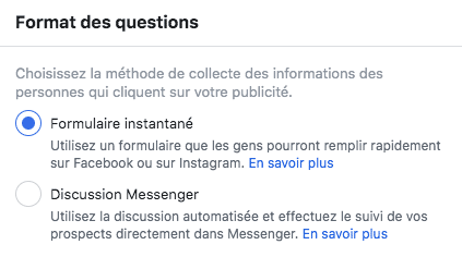 format questions facebook lead ads